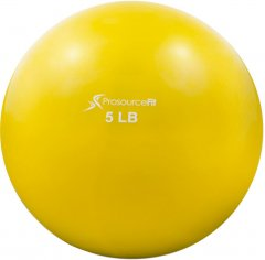 Мяч утяжеленный ProSource Toning Ball 2.27 кг Желтый (ps-2222-smb-5lb)