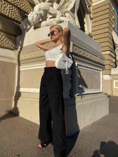Широкие брюки палаццо Boldness L Черные