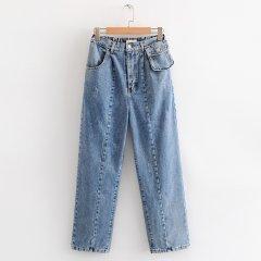 Джинси жіночі широкі з кишенею на поясі Comfort Berni Fashion (S) Синій (55865)