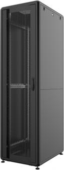 """Шкаф напольный Mirsan GTS 19"""" 42U 600x1000, RAL 9005 Черный (MR.GTS42U61DE.01)"""