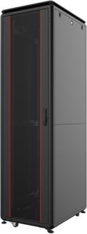 """Шкаф напольный Mirsan GTV 19"""" 42U 800x800, RAL 9005 Черный (MR.GTV42U88DE.01)"""