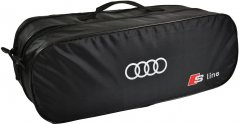 Сумка-органайзер в багажник Ауди С-лайн черная размер 50 х 18 х 18 см (03-099-2Д)