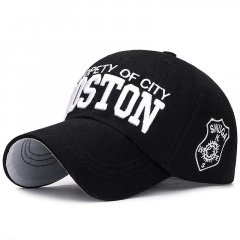 Кепка бейсболка Boston Черная, Унисекс