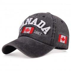 Кепка бейсболка Canada 2 Черная, Унисекс