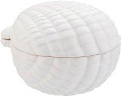 Ёмкость для ванной комнаты AXENTIA Ракушка 10x10x8 см универсальная White 132825