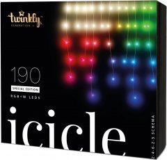 Светодиодная Smart LED гирлянда Twinkly Icicle RGBW 190, BT+WiFi, Gen II, IP44 кабель прозрачный (TWI190SPP-TEU)