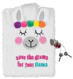 Пушистый блокнот с замочком Make it Real Мечтающая лама (MR36212)