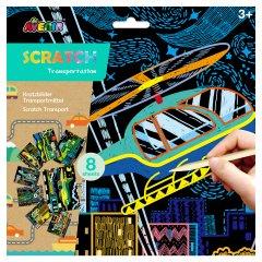 Набор для творчества скретч-арт Avenir Транспорт 8 раскрасок (CH191681)