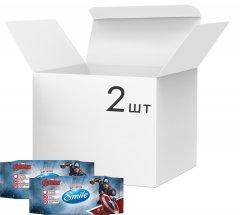 Упаковка влажных салфеток SmileMarvelКапитанАмерика антибактериальных 2 упаковки по 72 шт(42139166_4823071642254)