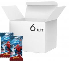 Упаковка влажных салфеток SmileMarvelЧеловекПаук антибактериальных 6 упаковок по 15 шт (42139149_4823071642247)
