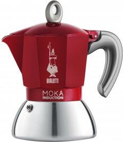 Гейзерная кофеварка Bialetti New Moka Induction на 2 чашки Красная (0006942)