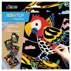 Набор для творчества скретч-арт Avenir Волшебные птицы 4 раскраски (CH1543)