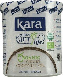 Кокосовое масло Kara органическое холодного отжима 220 мл (8997212610184)