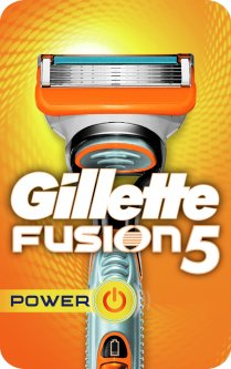 Станок для бритья мужской (Бритва) Gillette Fusion5 Power с 1 сменным картриджем (7702018877539)