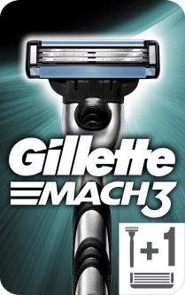 Станок для бритья мужской (Бритва) Gillette Mach3 с 2 сменными картриджами (7702018020706)