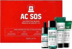 Набор миниатюр кислотных средств для проблемной кожи Some By Mi AHA-BHA-PHA 30 Days Miracle AC SOS Kit (8809647390527)