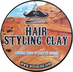 Моделирующая глина для волос WizGrease средней степени фиксации с матовым финишем 100 мл (13212)