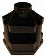 Органайзер вращающийся настольный КиП Вертушка Большая Черный (OB61черн.)