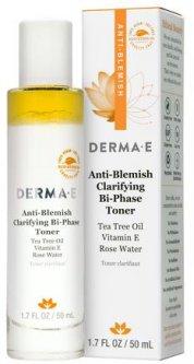 Противовоспалительный очищающий двухфазный тоник Derma E с маслом чайного дерева, витамином Е и розовой водой 50 мл (030985037050)