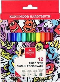 Фломастеры Koh-i-Noor Teenage 12 цветов (771002/12)