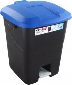Бак для мусора Tayg Eco с педалью и ручками 40 х 43 х 51 см 50 л Синий (430022_синій)
