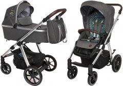Универсальная коляска 2 в 1 Baby Design Bueno 117 Graphite с вышивкой (203541)