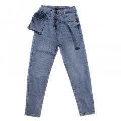 Штани джинсові для дівчинки A-YUGI 9175 158 см блакитний (173309)