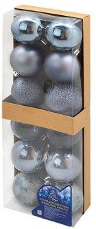 Набор елочных шаров NewYEAR 6 см 12 шт Синий (9344)
