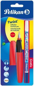 Ручка перьевая Pelikan Twist Fiery Red Красная с корректором (926071R)