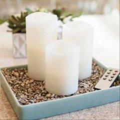Набор из 3 свечей с пультом Supretto (4570-0001)