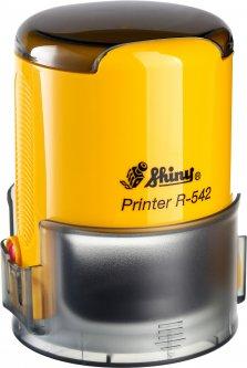 Оснастка для круглой печати d 42 мм Shiny R-542 желтый корпус с крышкой (4710850542082)