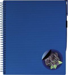 Блокнот Optima Splash с ручкой B5 Синий в клетку 120 листов (O20840-24)