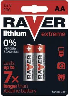 Батарейка Raver by Emos B7821 АА Литий BLI 2 шт (B7821)
