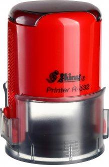 Оснастка для круглой печати d 32 мм Shiny R-532 красный корпус с крышкой (4710850532236)