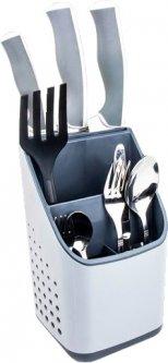 Подставка для столовых приборов OMAK Plastik Deco Bella 13x13x23 см (50840) (8694816508403)