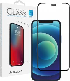 Защитное стекло ACCLAB Full Glue для Apple iPhone 12 Pro Max Black (1283126508233)