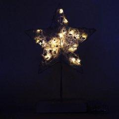 Светодиодная декорация Devilon Звезда на подставке 19.8х6х29 см Белый (141080)