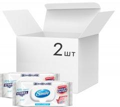 Упаковка дезинфицирующих влажных салфеток Smile Sterill Bio с клапаном 2 пачки по 50 шт (4823071644753_41304651)