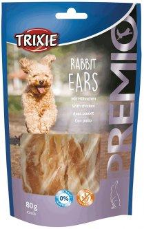 Лакомство для собак Trixie 31808 Premio Rabbit Ears 80 г (4011905318080)