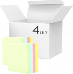 Набор бумаги для заметок KLERK с клейким слоем 76x76 мм 400 листов пастель микс цветов 4 шт (Я45172_KL21504_4)