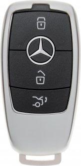 Чехол для автоключа LaManche Mercedes Silver (Benz-B01K_slv)