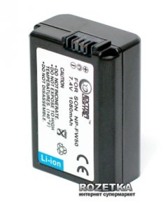 Аккумулятор для Sony NP-FW50, 7.4 В, 1080 мАч, Li-ion (BDS2678)