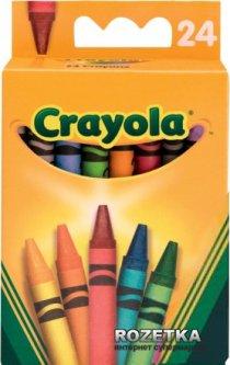 Восковые карандаши Crayola разноцветные стандартные 24 шт (0024) (5010065000247)
