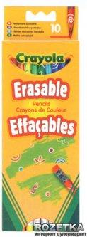 10 цветных карандашей Crayola с ластиками (3635) (5010065036352)