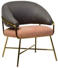 Кресло Vetro Mebel Адель Серо-розовое (Chair Adele)