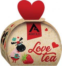 Чай черный байховый цейлонский Askold Love tea Strawberry tea 40 г (4820171917787)