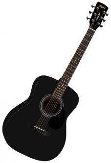 Гитара электроакустическая Cort AF510E BKS