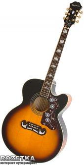 Гитара электроакустическая Epiphone EJ-200CE (A002332) VS/GH