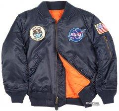 Демисезонная куртка для мальчика Alpha Industries Youth NASA MA-1 146-152 см (YL) Replica Blue