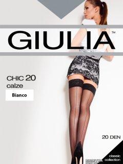Чулки Giulia Chic Calze 20 Den 1/2 р Bianco (4820040109183)